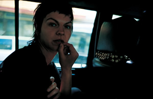Nan Goldin: Valérie in the taxi, Paris, 2001