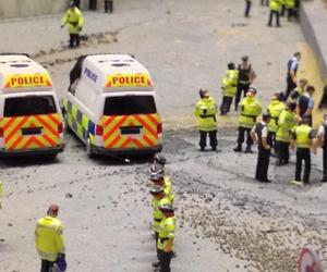 James Cauty's 1:87-scale police state
