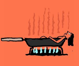 Jean Jullien illustrates the French heat wave