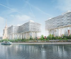 Herzog & de Meuron float a block above the Moscow River