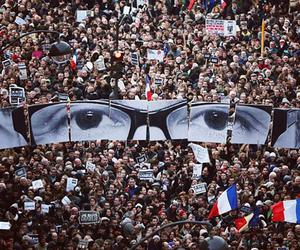 Did you spot JR at the Charlie Hebdo march?