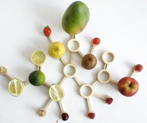 A fruit basket that takes its design from citric acid molecules