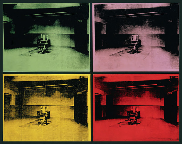 Four Electric Chairs (1964) by Andy Warhol. As reproduced in Body of Art