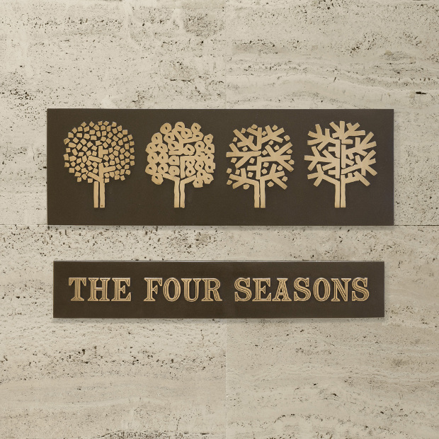 The Four Seasons sign by Emil Antonucci. Image courtesy of Wright auction house