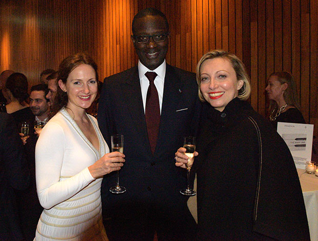 Laura Chapman, Credit Suisse CEO Tidjane Thiam and Francine Lacqua