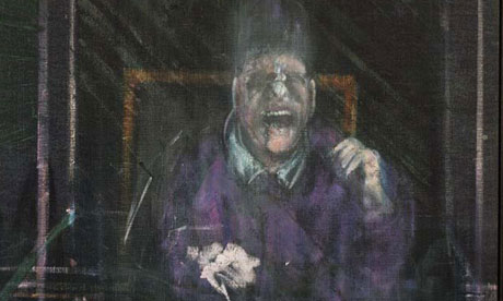 A detail from Untitled (Pope) - Francis Bacon