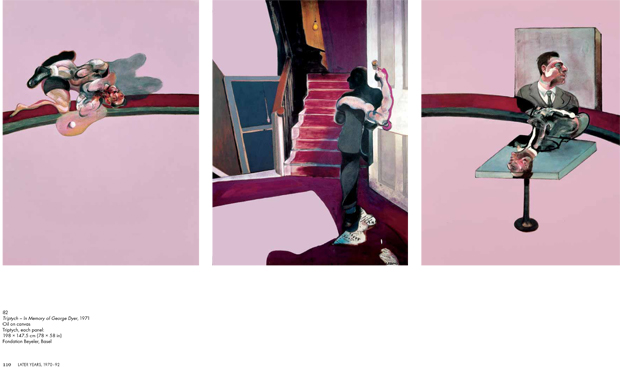 Triptych – In Memory of George Dyer, 1971 - Francis Bacon - a page from the Phaidon Focus book