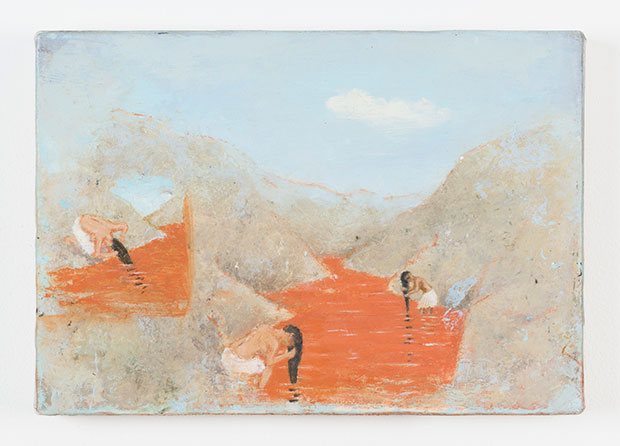 Francis Alÿs Untitled, 2010 Oil on canvas and wood 5 3/4 x 8 1/4 inches (14.6 x 21 cm) Courtesy David Zwirner, New York/London