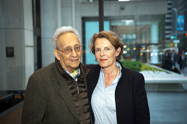 Frank Stella and Annabelle Selldorf at Steinway Hall, New York