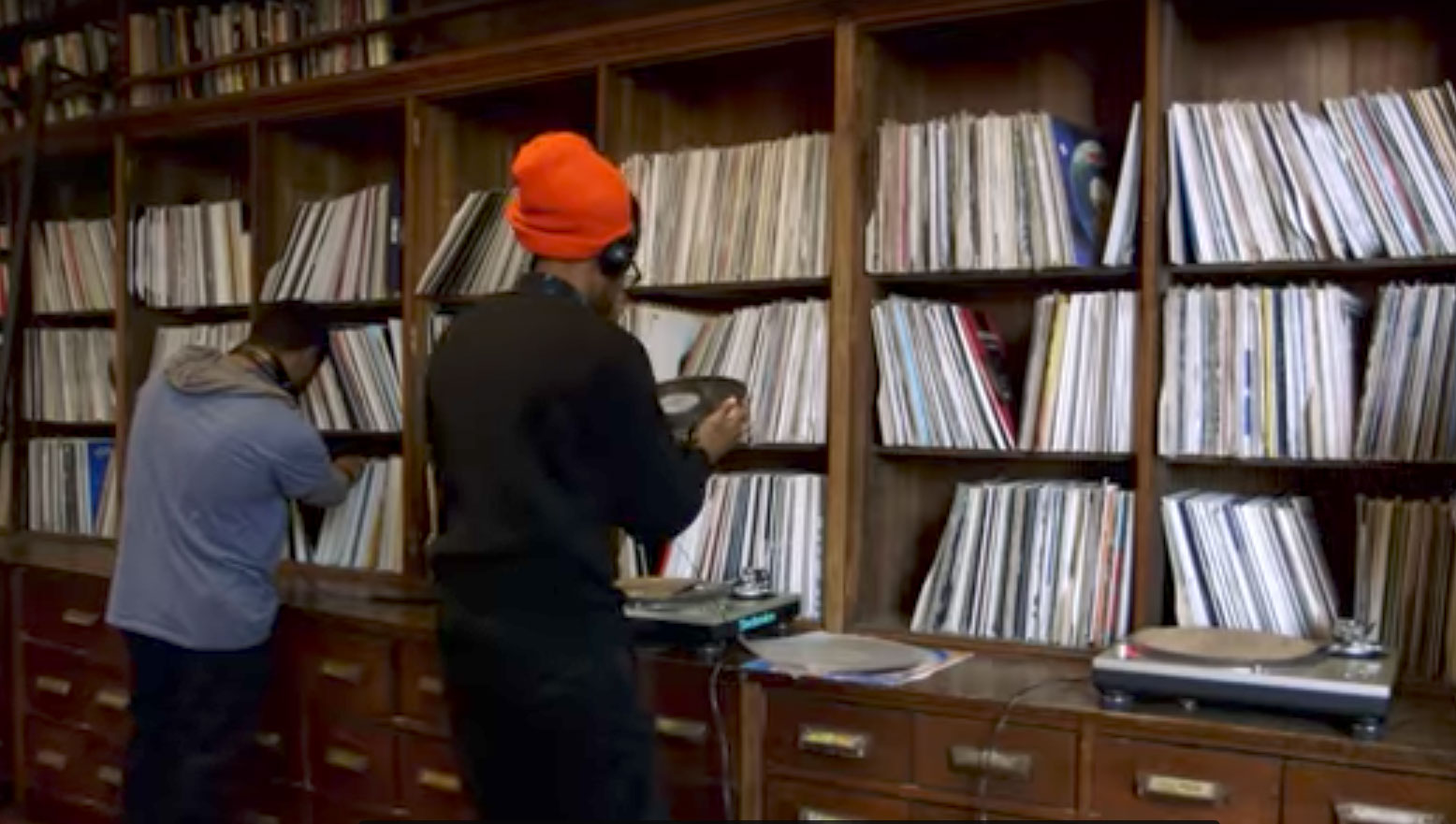 Frankie Knuckles' record collection at the Stony Island Arts Bank, as shown in the new Art21 video