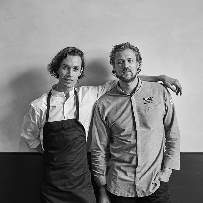 Fredrik Berselius with the Rijks executive chef Joris Bijdendijk. Photo by Rinze Vegelien