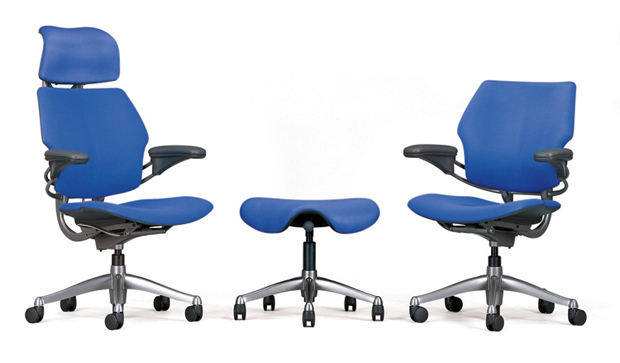 Three variations of Niels Diffrient's Freedom Chair (1999)