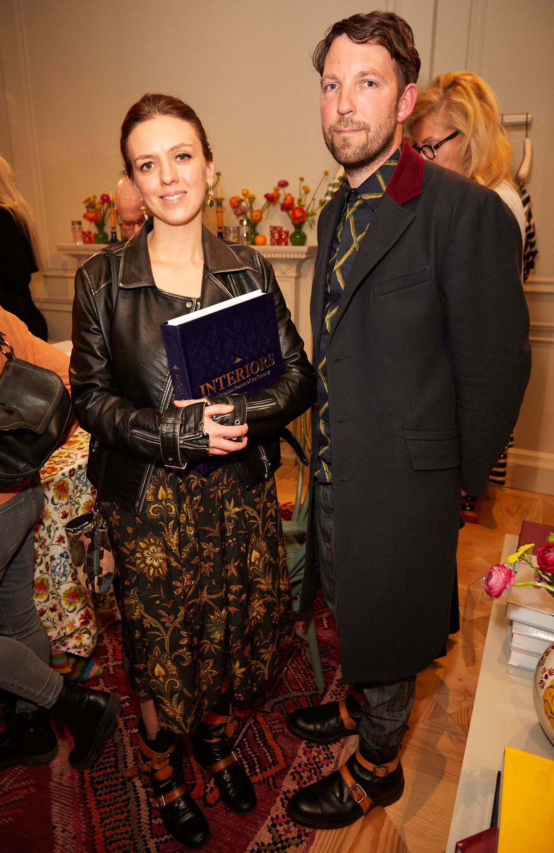 Frieda Gormley and Javvy Royle at the Interiors launch at MATCHESFASHION.COM in London