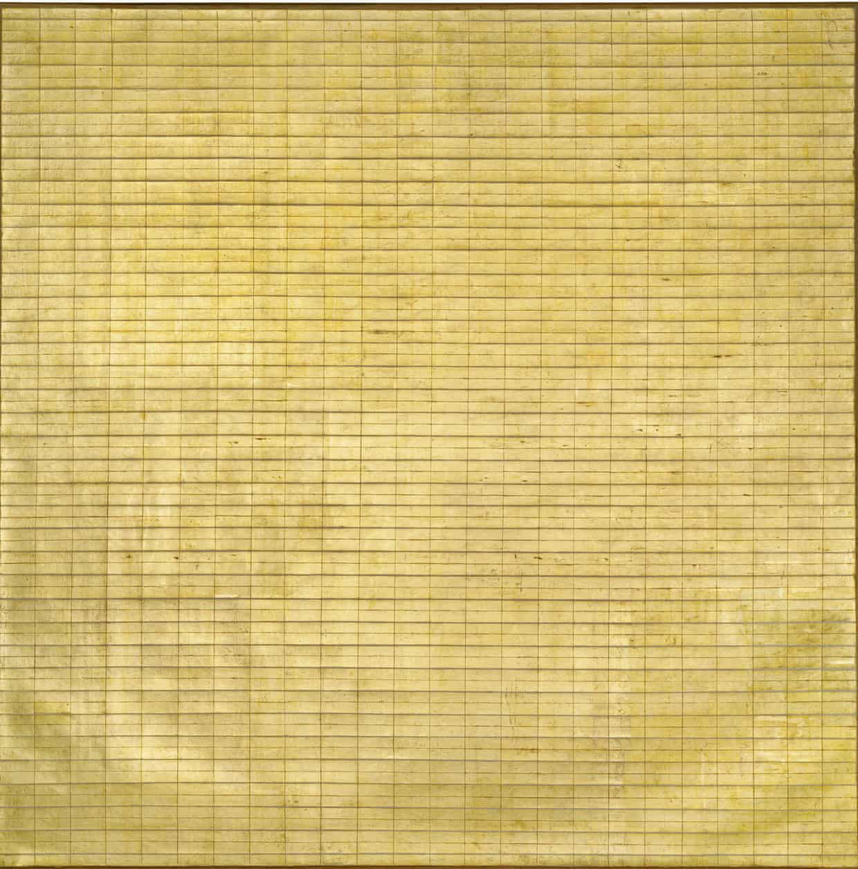 Friendship, 1963 by Agnes Martin as featured in Paintings, Writings, Remembrances