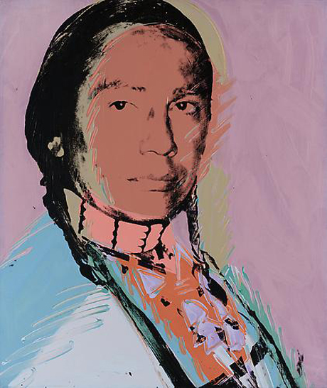 The American Indian (Russell Means) by Andy Warhol (1976)