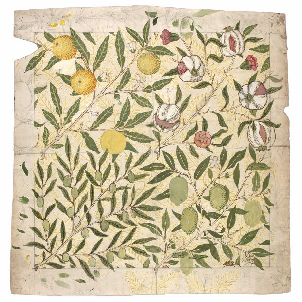 Design for fruit wallpaper (1862) by  William Morris