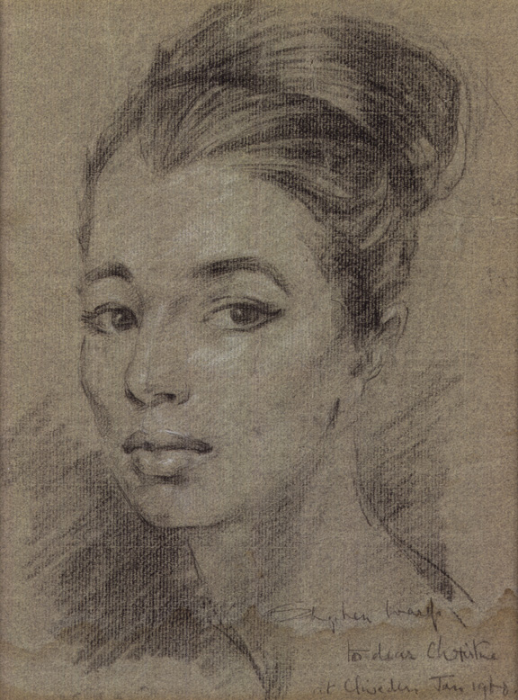 Christine Keeler by Stephen Ward, pastel, c.1961 (c) National Portrait Gallery, London
