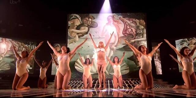 Gaga's Botticelli inspired X-Factor performance