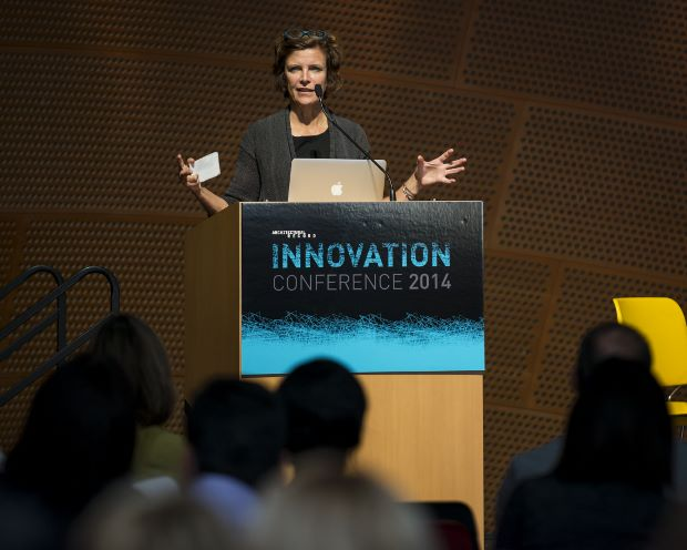 Jeanne Gang at the Innovation Conference. Image by Steve Hill
