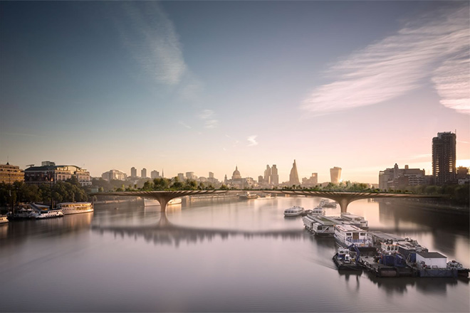 Thomas Heatherwick's Garden Bridge renderings