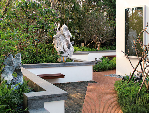 The gardens at Maggie's Cancer Care Centre, Hong Kong, designed by Lily Jencks. As featured in The Gardener's Garden