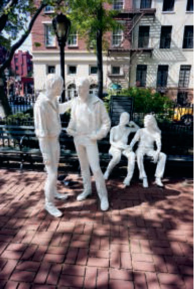 Gay Liberation, 1980, New York City, USA, by George Segal