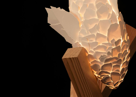 Detail from one of Gehry's new Fish Lamps