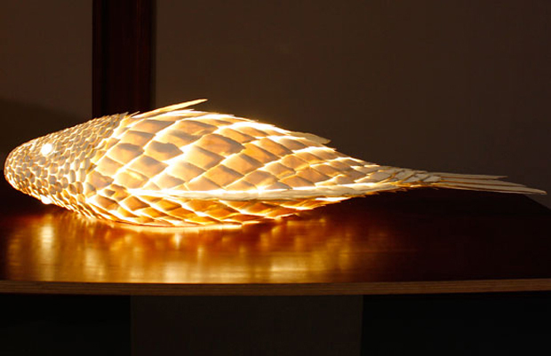 One of Frank Gehry's Fish Lamps. Image courtesy of the Gagosian
