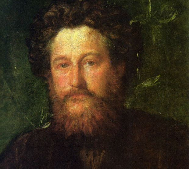 Detail from George Frederic Watt's portrait of William Morris (1870). Image courtesy of the National Portrait Gallery