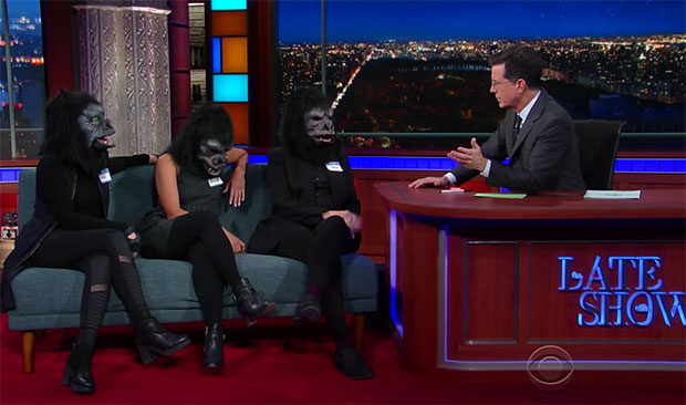The Guerrilla Girls on The Late Show with Stephen Colbert, 2016