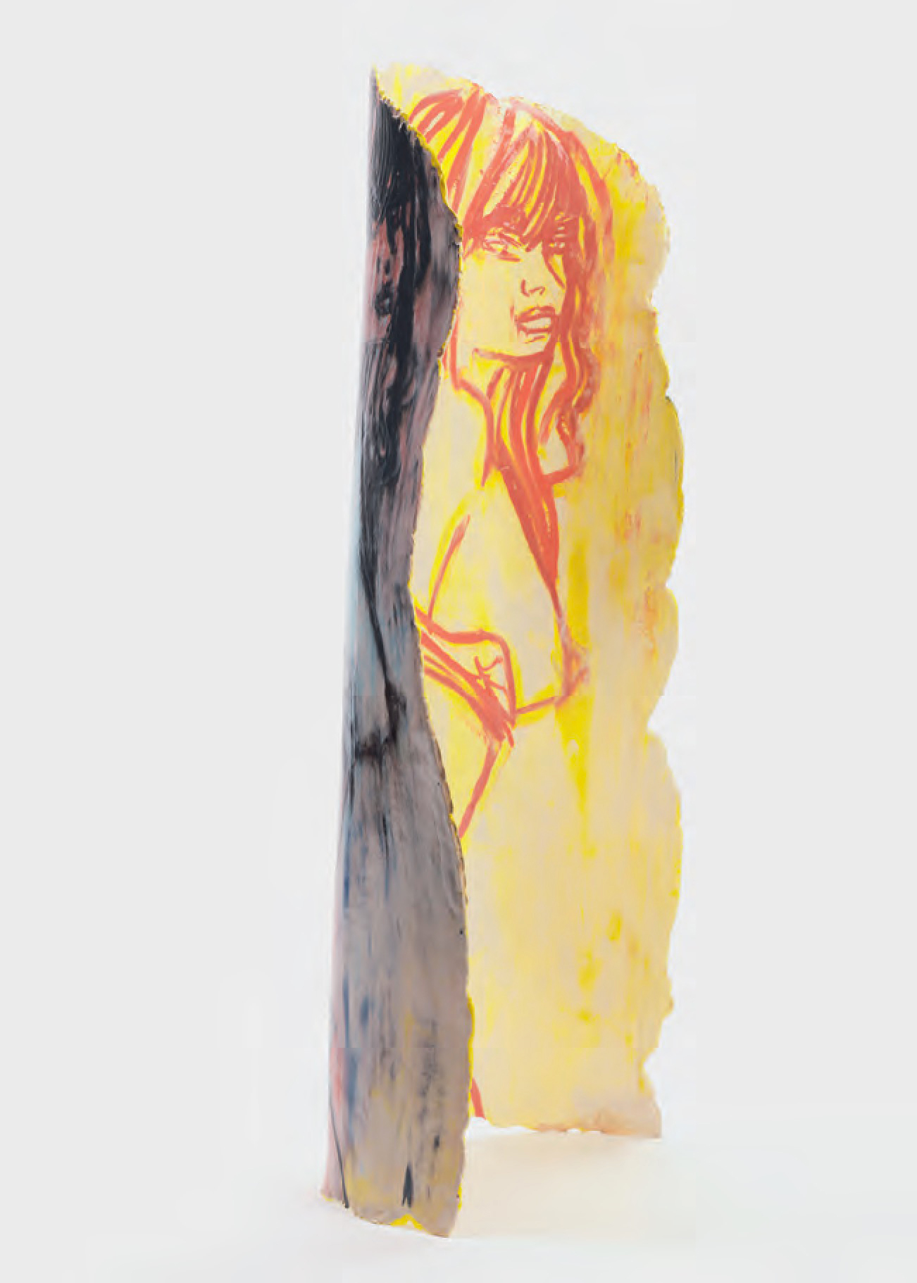 Standing Girl in Yellow, 2015 Ceramic - Ghada Amer - courtesy the artist and Cheim & Read