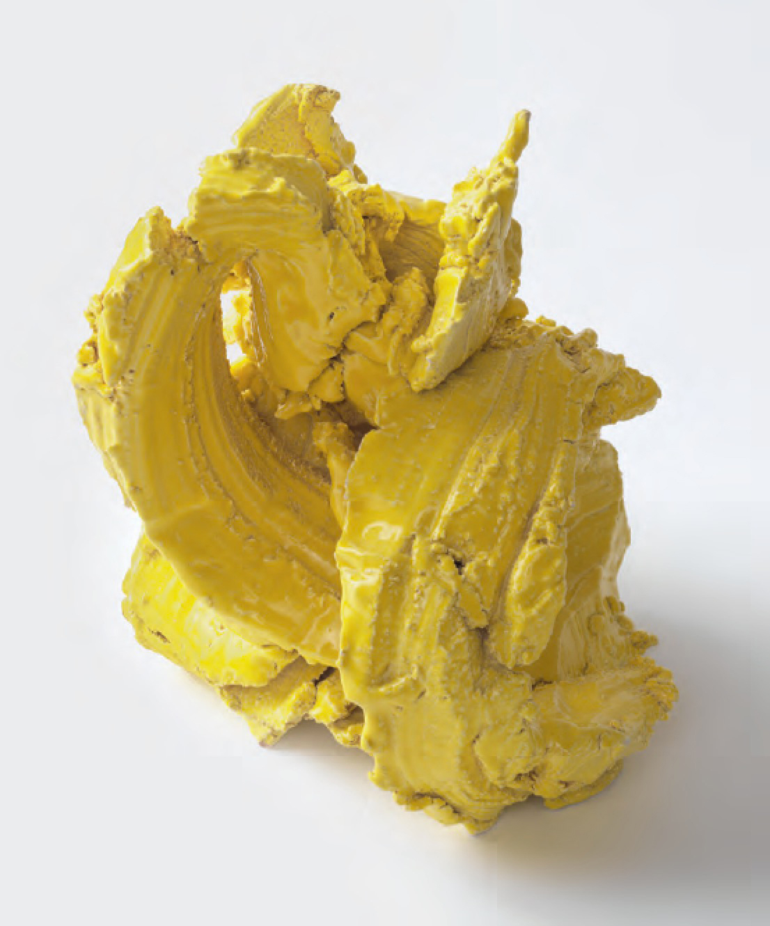 Yellow Strokes, 2015 Ceramic Ghada Amer - courtesy the artist and Cheim & Read