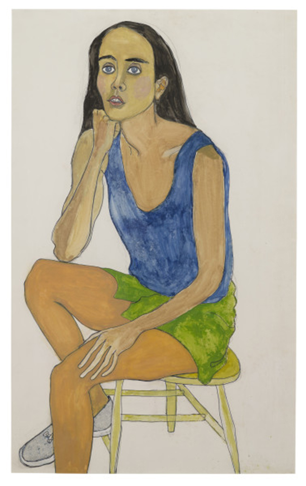 Alice Neel, Ginny, 1975. Gouache on paper. The Estate of Alice Neel. Courtesy David Zwirner, New York/London