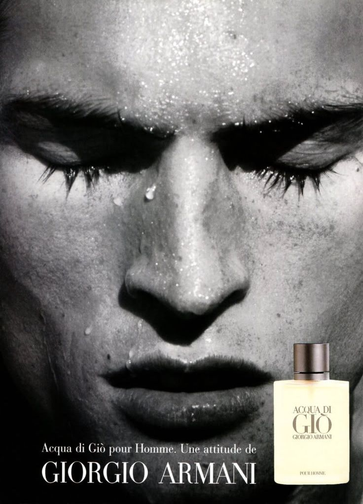 The 1996 campaign for Acqua di Giò, art directed by Fabien Baron