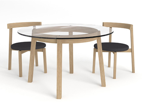 Oki-nami table and chairs - Nazanin Kamali