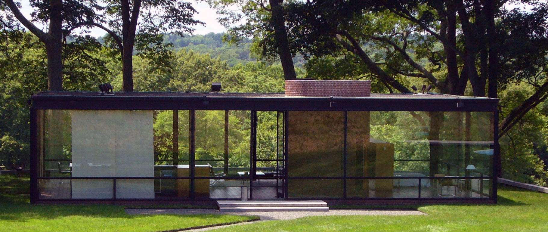 Philip johnsons glass house inside and out architecture
