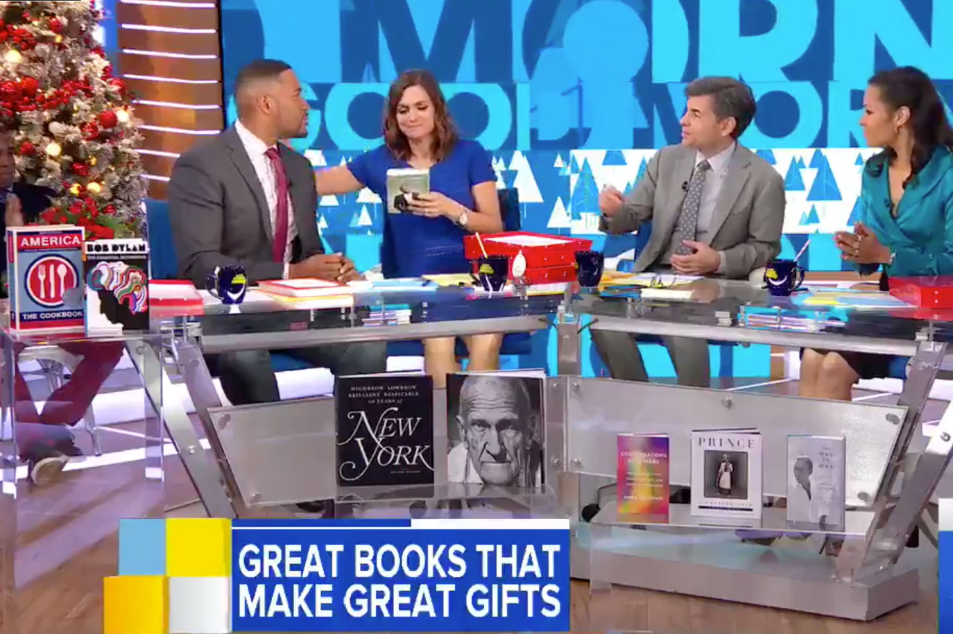 America the Cookbook featured in Good Morning America's Great Books that Make Great Gifts section for Christmas 2017