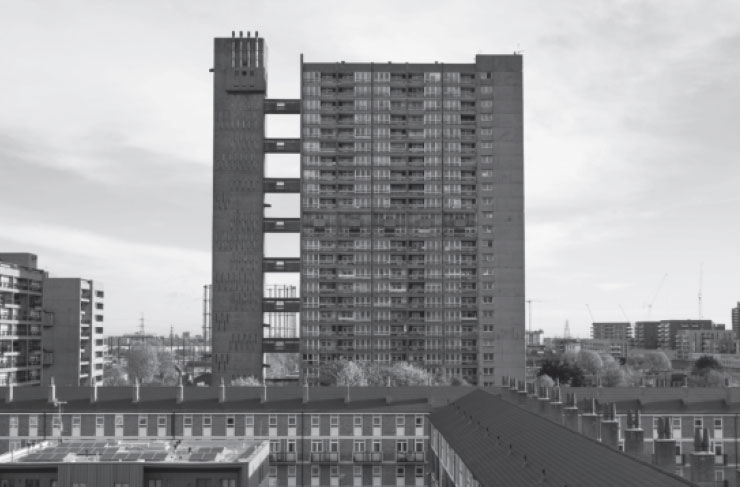 Balfron Tower (1967) in East London by Ernö Goldfinger in East London - featured in Atlas of Brutalist Architecture