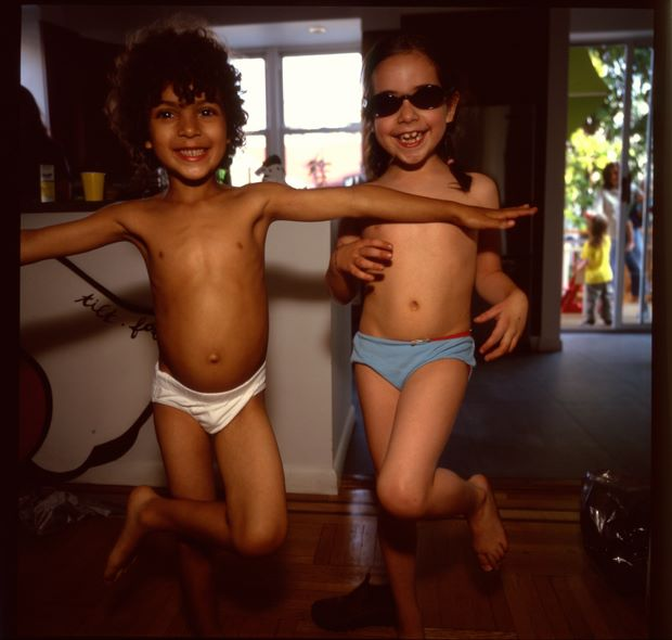 Orlando and Lily dancing, Brooklyn, 2006 by Nan Goldin, from Eden and After