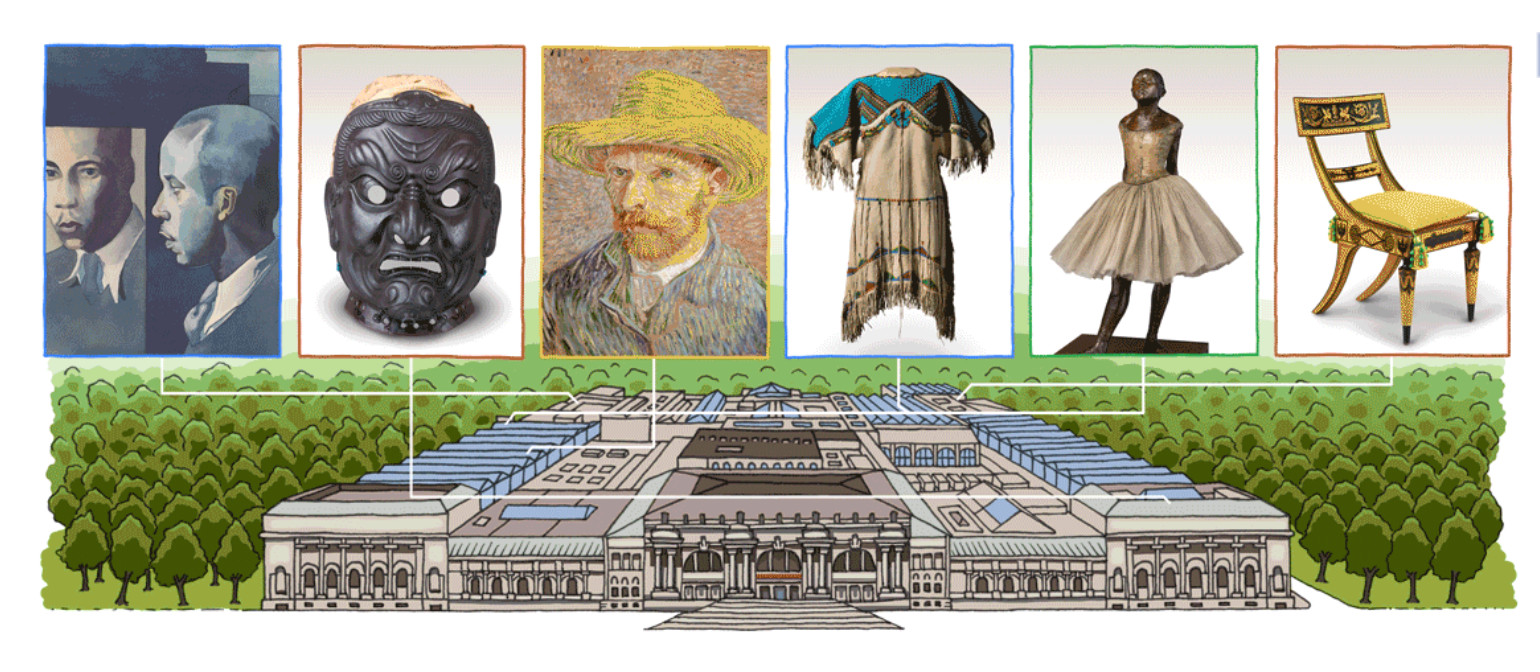 Google marks The Met's birthday with a Doodle
