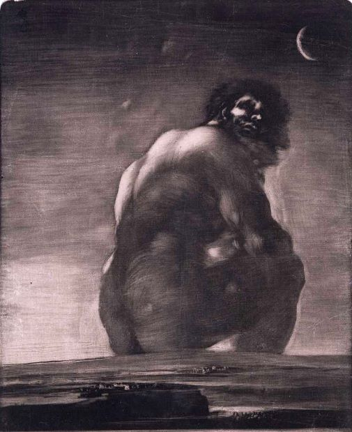 The Giant (c. 1818) by Francisco Goya