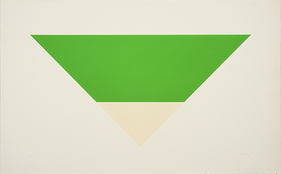 Green and White Pyramid (1970) by Ellsworth Kelly