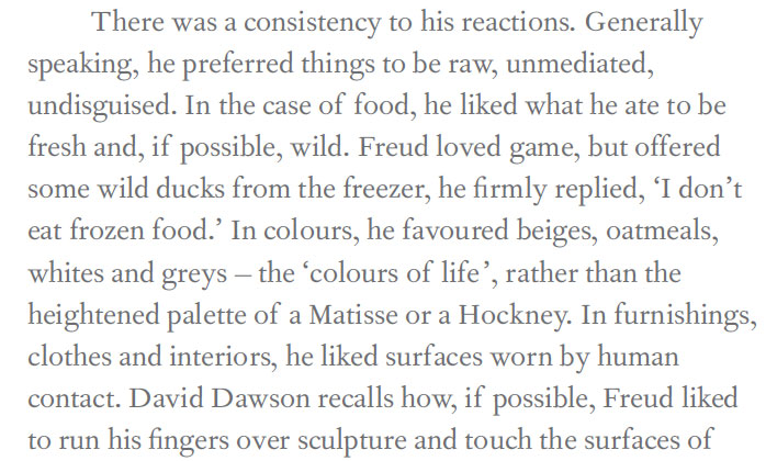 A sample of the text as it appears in our book - 'A Freudian grisailles'