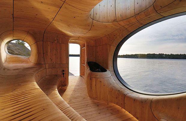 The Grotto Sauna, Georigan Bay, Ontario, Canada by Partisan Projects. From our new Architizer A+ Awards 2015 book