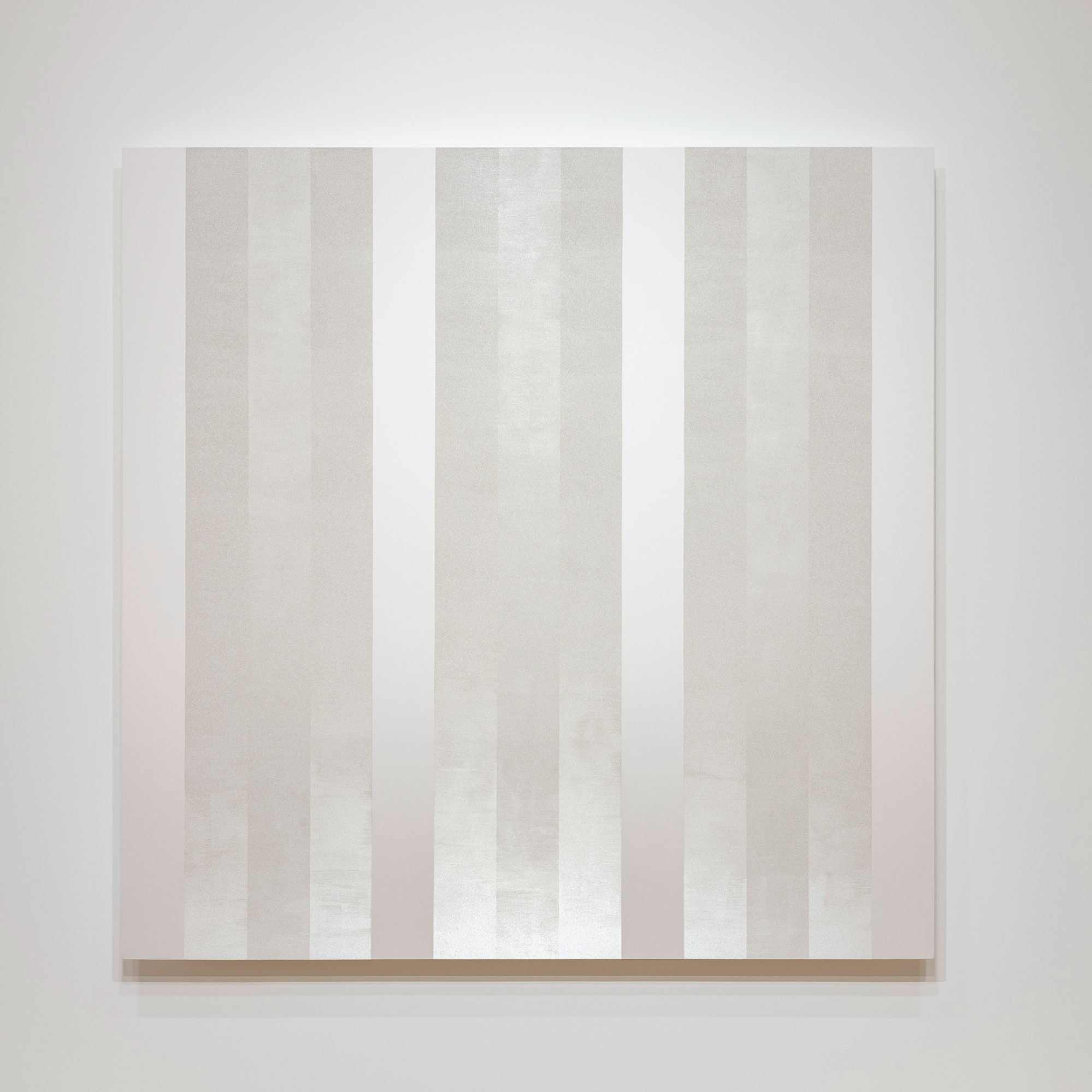 Mary Corse Untitled (White Multiband, Beveled) 2019 © Mary Corse, Courtesy Pace Gallery