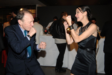 Haden-Guest and clothes designer Cynthia Rowley at a Jeff Koons party, New York, 2008