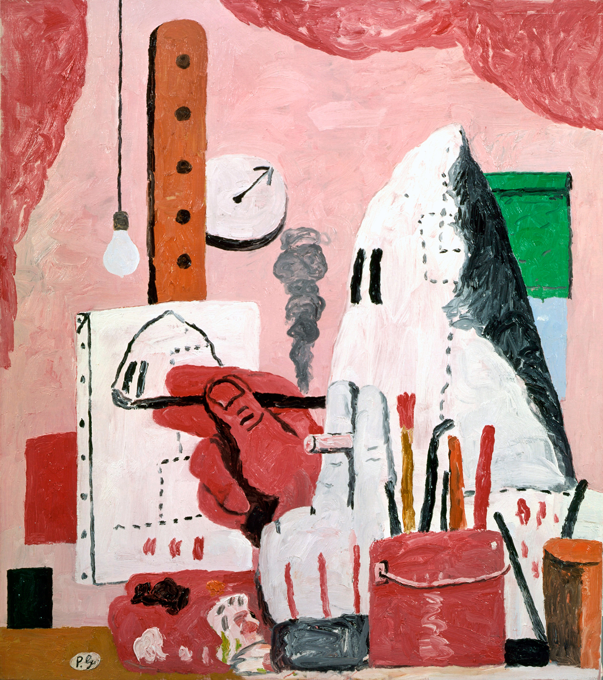 In the Studio (1969) by Philip Guston. As reproduced in Painting Beyond Pollock