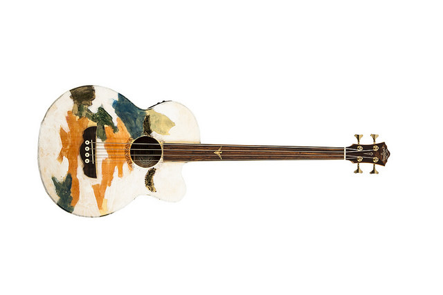 Gus Van Sant's guitar. Image courtesy of War Child USA