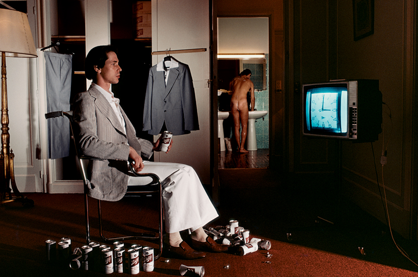 Guy Bourdin, Vogue Homme, Suits by Ted Lapidus (June/July 1977)