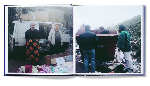 Spread from Stephen Gill's Hackney Wick (2005)  from Martin Parr and Gerry Badger's Photobook series